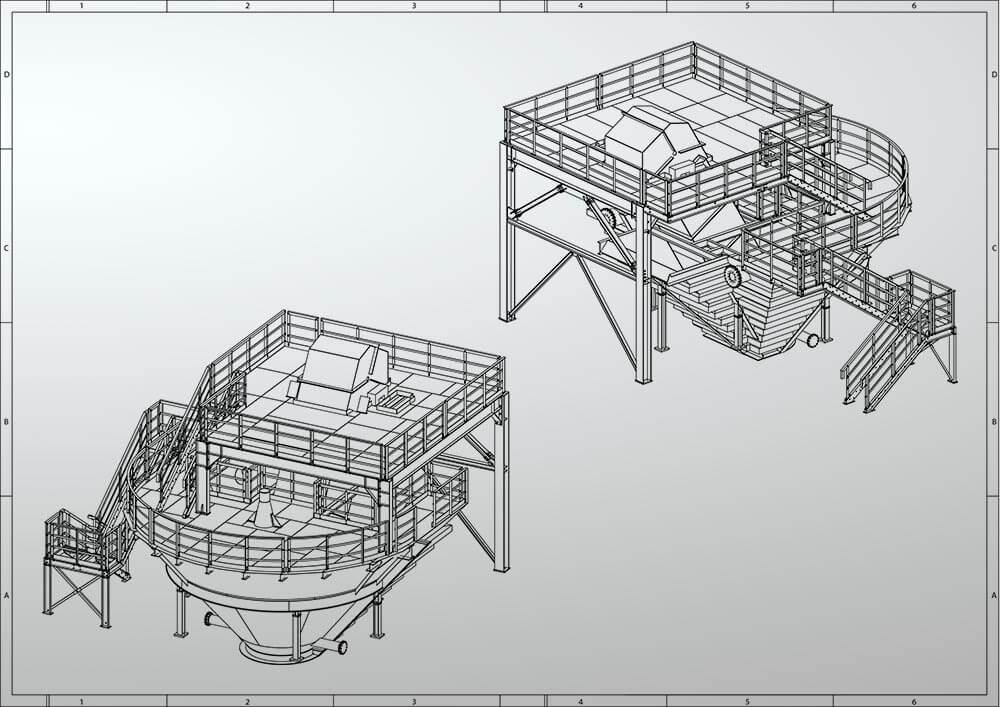 Konstruktionsbüro | Sonderkonstruktion Behälter mit Begehung