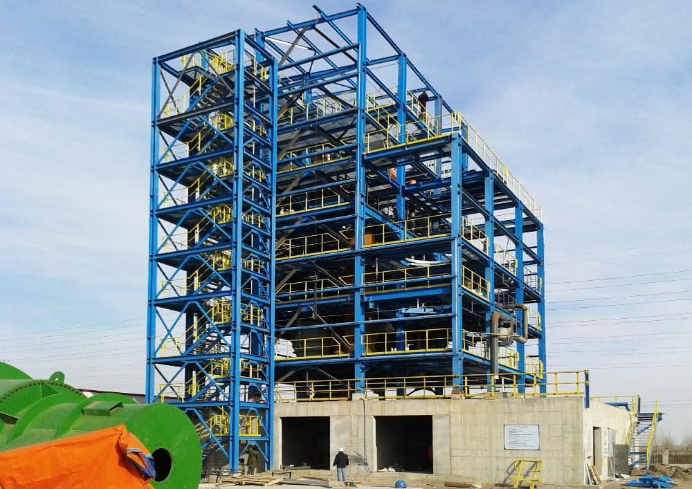 Konstruktionsbüro | Stahlkonstruktion: Müllverwertungsanlage Anlage mit Treppenturm