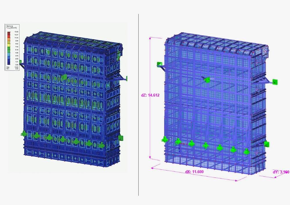 Konstruktionsbüro: Statische Berechnung für einen Reaktor zur Gasreinigung